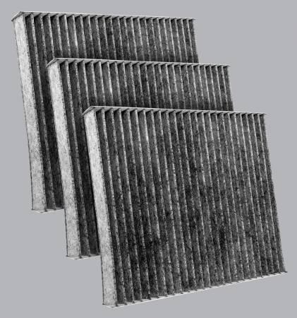 FilterHeads - AQ1220C Cabin Air Filter - Carbon Media, Absorbs Odors 3PK - Buy 2, Get 1 Free! - Image 1