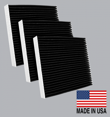 FilterHeads - AQ1102C Cabin Air Filter - Carbon Media, Absorbs Odors 3PK - Buy 2, Get 1 Free!