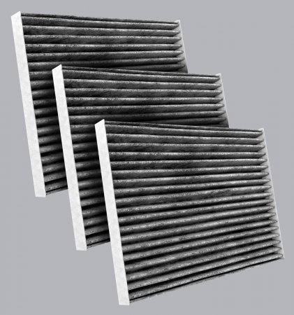 FilterHeads - AQ1114C Cabin Air Filter - Carbon Media, Absorbs Odors 3PK - Buy 2, Get 1 Free! - Image 1