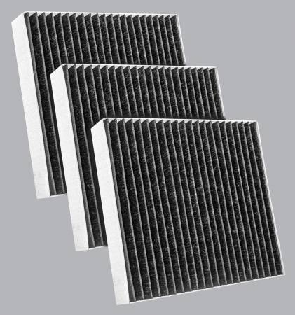 FilterHeads - AQ1278C-B Cabin Air Filter - Carbon Media, Absorbs Odors 3PK - Buy 2, Get 1 Free! - Image 1